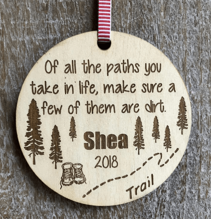 Etsy Hiking Quote Ornament