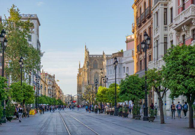 Seville Spain Santa Cruz Street