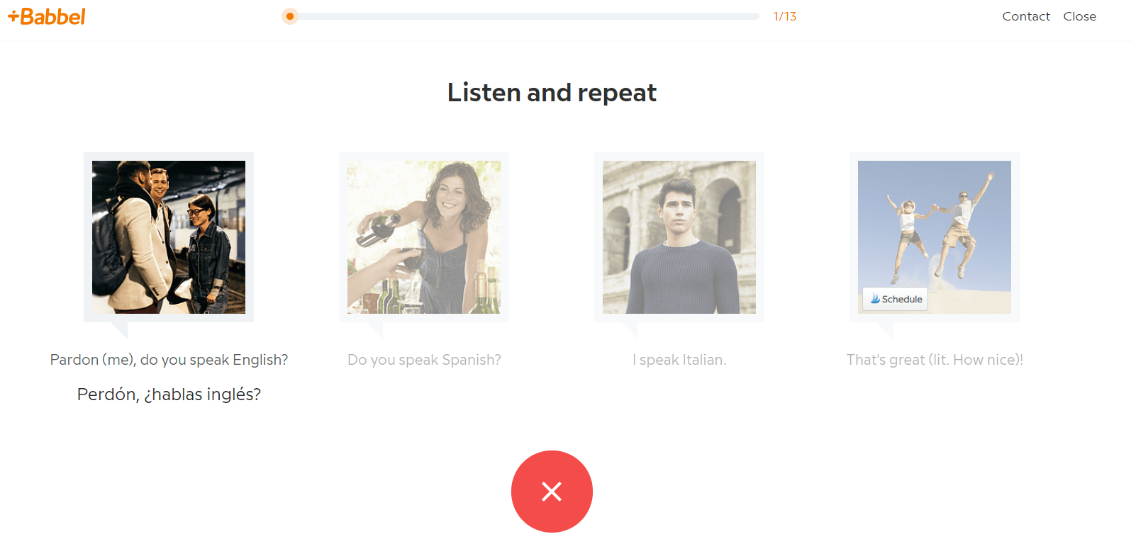 Babbel review speech recognition