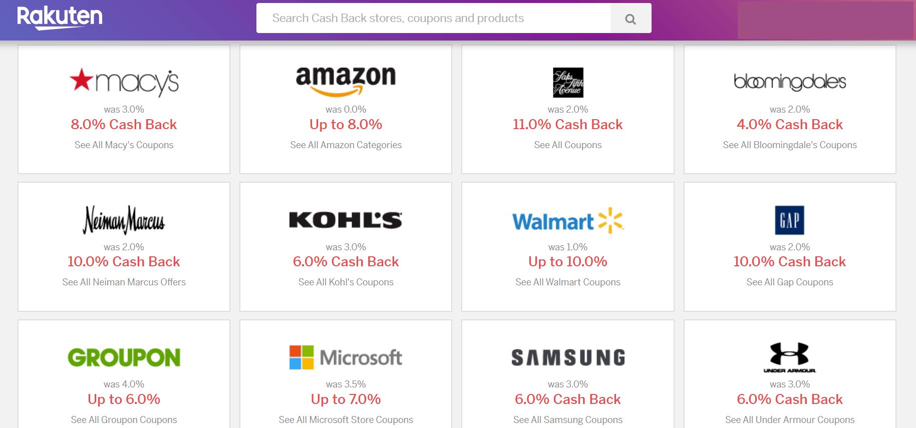 Rakuten Shopping Portal