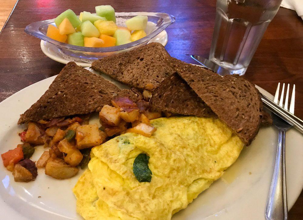 Airport Lounge breakfast