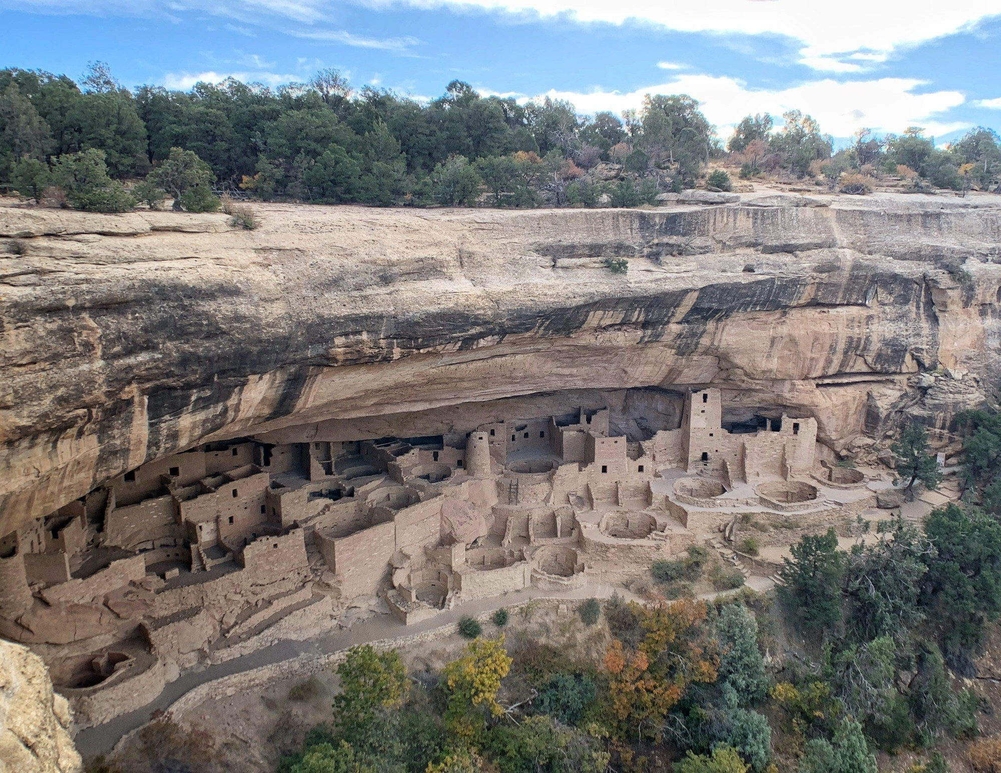 Cliff Palace at Mesa Verde National Park in Fall