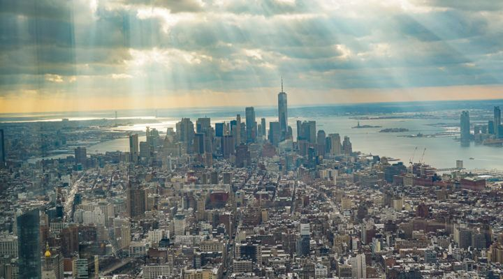 View from the top of the Empire State Building NYC