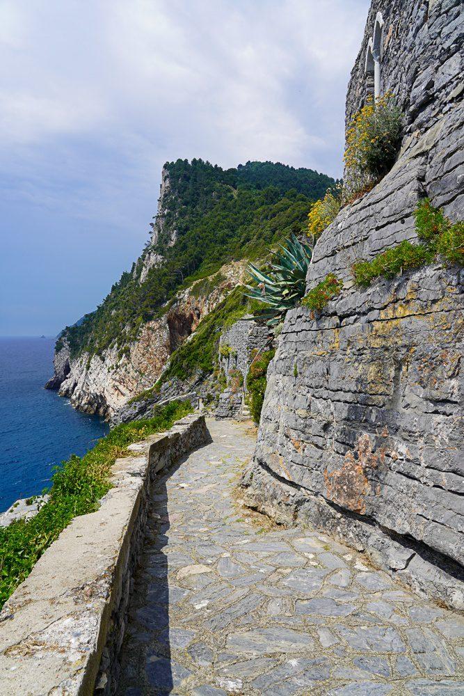 Cliffside trail Porto Venere Italy