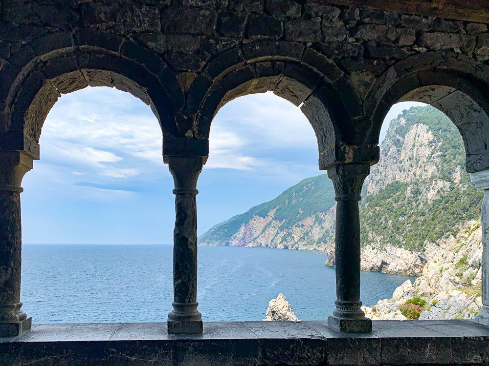 Overlooking the Mediterranean Sea in Portovenere Italy